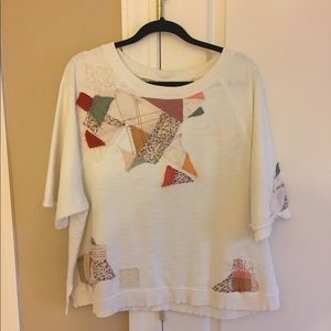 Anthropologie sweatshirt shirt sleeve size XL